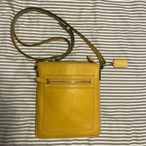 Coach Crossbody Yellow Leather Bag